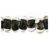 Lamp Bead Donut 50pc 9mm Black
